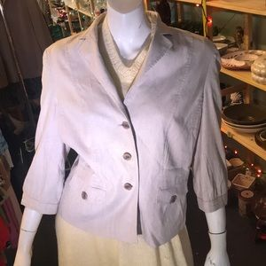 Banana Republic 3/4 Sleeve Beige Tan Blazer